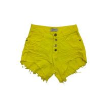 Shorts Colorido Cintura Alta Hot Pant