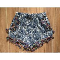 Shorts Feminino Curto Estampado Moda Praia Verão Soltinho