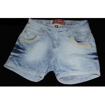 Short Jeans Plus Size Hot Pant Perola Strass Promoção 54,90!