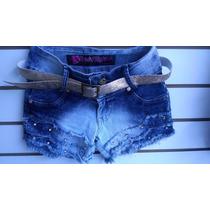 Shorts Jeans Feminino 38 Lindo Ultima Peça C/ Cinto