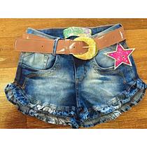 Short Jeans Com Cinto Todas As Numerações Pit Girl