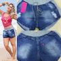 Short Shortinho Jeans Moletom Verão - Inovare Modas