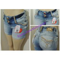 Shorts Jeans Afront Levanta Bumbum Estilo Pitbull