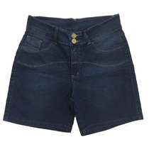 Short Feminino Jeans Com Elastano - Plus Size 44 Ao 64