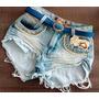Shorts Jeans Hot Pants Com Strass Customizados Verão 2015