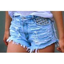 Lindo Shorts Jeans Customizado D Cintura Alta Vários Modelos
