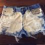 Shorts Jeans Customizados Manchado