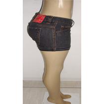 Shorts Jeans Feminino Tam.36 C/ Strech Marca Crocker S5