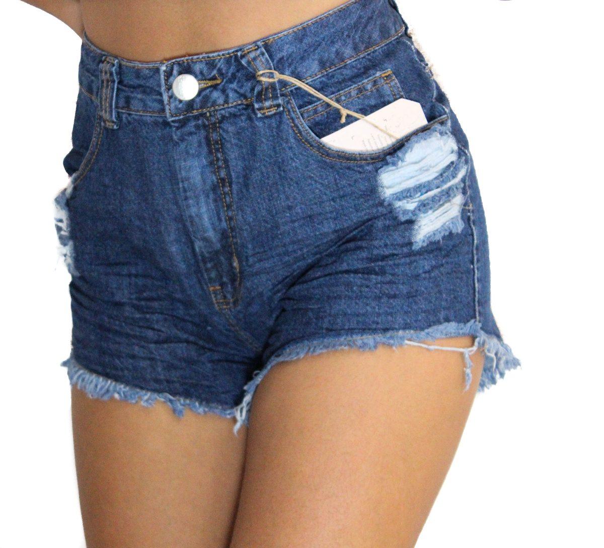 shorts cintura alta hotpants jeans r 89 90 no mercadolivre. Black Bedroom Furniture Sets. Home Design Ideas