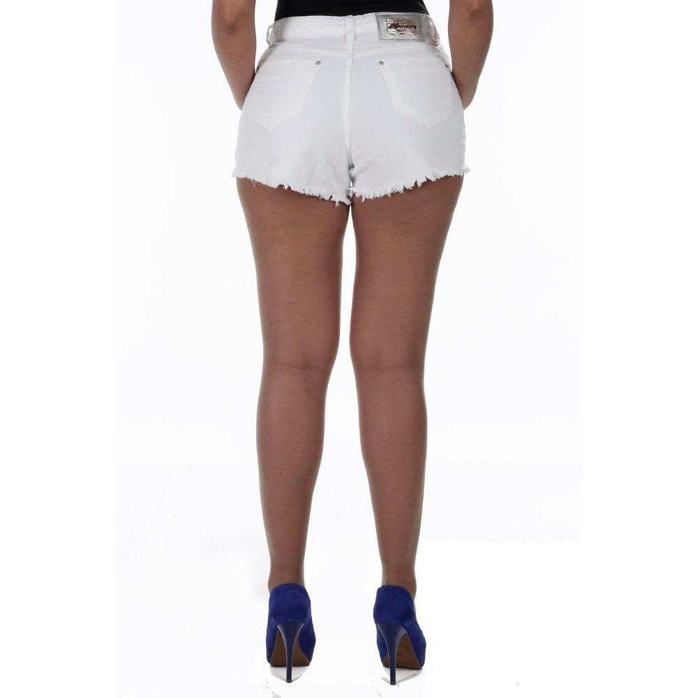 Shorts Jeans Feminino Anitta Hot Pants Cintura Alta Sawary R 79 90 No Mercadolivre