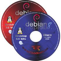 Debian 8 Jessie + Adesivo / 32 + 64bits E Frete R$0,01 6dvds
