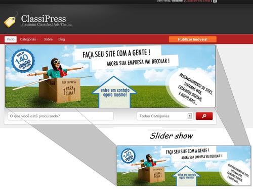 Site Classificados Classipress / Wordpress