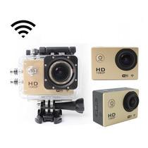 Camera Prova Agua Wi Fi Sj400 Wifi Hd Com Controle Pulseira