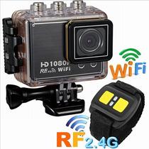 Camera Wi Fi Sj4000 Wifi Hd Com Controle Pulseira Prova Agua