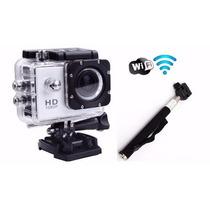 Camera Sj4000 C/ Wifi Full Hd 1080 - 12mp + Bastão