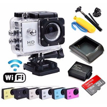 Sports Cam Wifi Prova Dagua X4000 + 32gb + Kit Bateria Extra