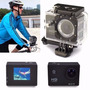 Câmera Hd Filmadora Prova Dágua Wifi Full Sport+bóia+bastão