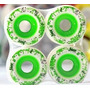 Roda Face Skate Splash 65mm Verde 82a Longboard Skate Slide
