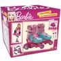 Patins Ajustavel Aprendizado Rodas Barbie Tamanho 29 Ao 32