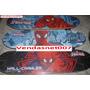 Skate Infantil Homem Aranha Completo+ Capacete +kit Proteção
