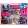 Skate Infantil Frozen Disney + Capacete + Kit Segurança Etc!