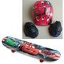 Skate Infantil Carros Disney Pixar + Acessórios De Segurança