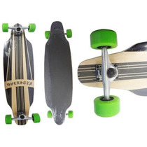 Skate Long Board Completo Shape Rodas Radical Surf Rolamento