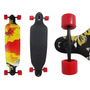 Skate Longboard Abec Rebaixado Truck Invertido Vermelho