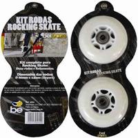 Kit 2 Rodas P/ Patins Rollers Skate Waveboard 80 Mm Branca