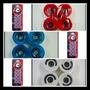 Kit Skate Long Board Rodinhas 70mm 80a + Abec 15 Black Sheep