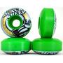 Kit C/4 Rodas Para Skate Black Sheep 53mm Verde Original