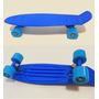 Skate Cruiser Mini Longboard - Skates Old School - Cor Azul