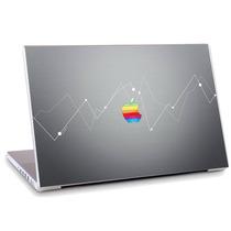 Skin Adesivo Notebook Vetor Logo Apple Maçã Cinza Skbr0007