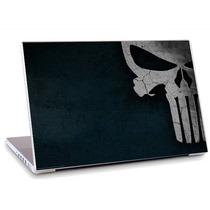 Skin Adesivo Notebook Textura Azul Caveira Branca Skdi0310
