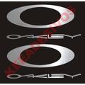 2 Adesivos Oakley 14 Cm Vinil Adesivo Aço Escovado