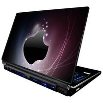 Skin Adesivo Notebook Apple Maça Neon Roxo Babond Skdi1156