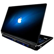 Skin Adesivo Notebook Apple Maça Azul Neon Babond Skdi0468