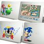 Skin Adesivo Para Notebook Ou Tablet Do Mario E Do Sonic