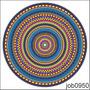Adesivo Decorativo De Parede Mandala Colorida Linda Job0950