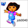 Adesivo Decorativo Dora Aventureira Desenho Meninas Job0040