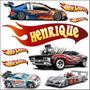 Adesivo Decorativo Parede Hot Wheels Carrinhos Carro Job1090