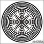 Adesivo Decorativo Parede Mandala Em Preto E Branco Job0964