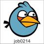 Adesivo Decorativo De Parede Angry Birds Azul Job0214