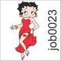 Adesivo Decorativo De Parede Betty Boop Desenho Job0023