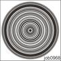 Adesivo Decorativo Parede Mandala Em Preto E Branco Job0968