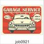Adesivo Garagem Vintage Carro Antigo 24/7 Since 1954 Job0921