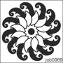 Adesivo Decorativo Parede Mandala Em Preto E Branco Job0969
