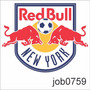 Adesivo New York Red Bulls Bebida Energética Job0759