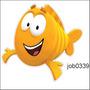 Adesivo Decorativo Bubble Guppies Mr Grouper Peixe Job0339
