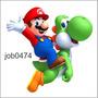 Adesivo Decorativo Parede Super Mário E Yoshi Job0474